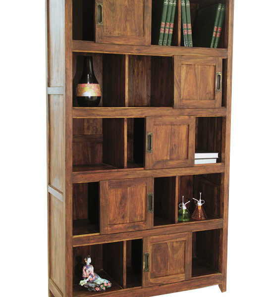 sheesham solid wood book shelf