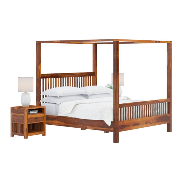 Sheesham Solid Wood Bed With Storage