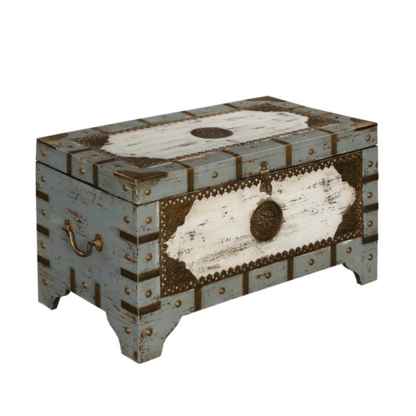Wooden chest trunk distress