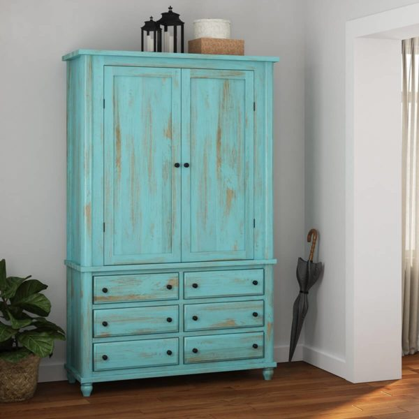solid wood distress Finish Wardrobe