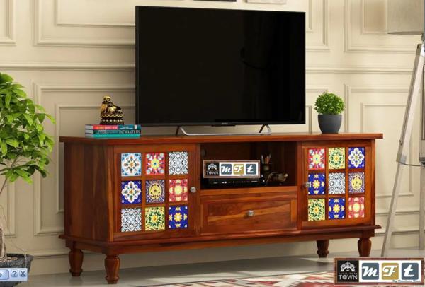 sheesham solid wood tv cabinet