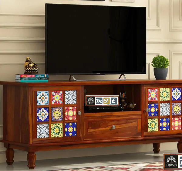 sheesham solid wood tv cabinet