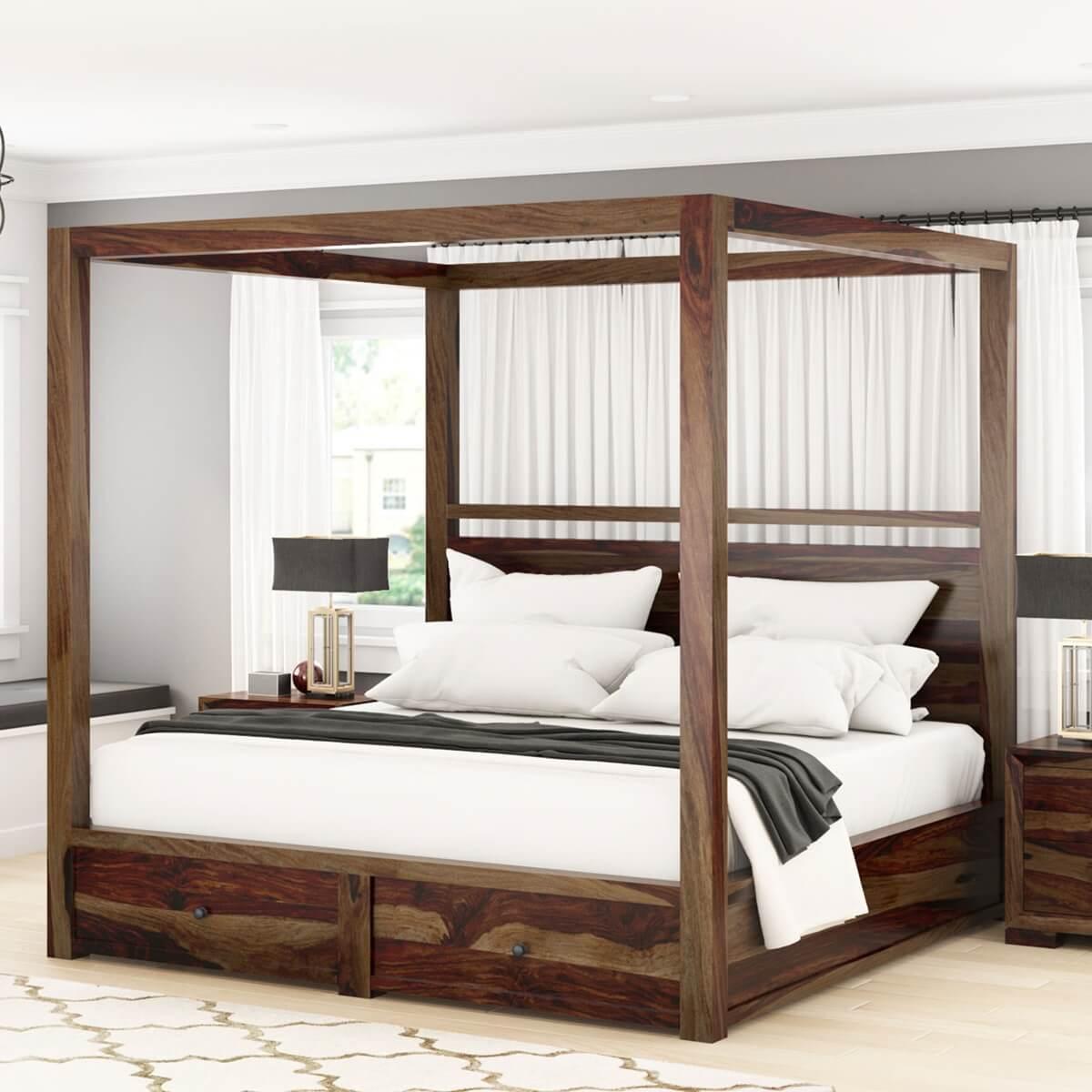 Sheesham Solid Wood Contemporary 4