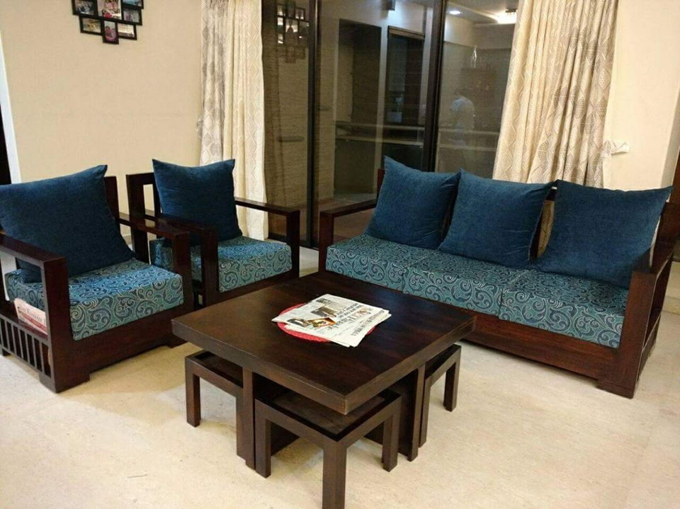 Stylish Sheesham Solid Wood Sofa Set And Customized By Mft My Furniture Town